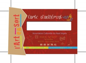 ART en SORT CARTE ADERANT 85X54 RECTO